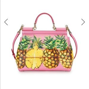 New authentic Dolce&Gabbana pineapple print bag